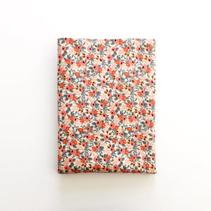 Crib Sheet - Rifle Paper Co. Les Fleurs - Rosa in Peach
