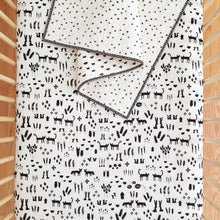 Wholecloth Quilt - Black and White Starry in Black