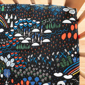 Organic Crib Sheet - No Place Like Home - Oz in Black