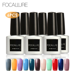 FOCALLURE Choose Three 2017 Newest Style Nail Gel Polish Led Lamp Soak Off  UV Nail Gel Varnish Sexy Color Led Nail Glue