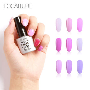 FOCALLURE New High Quality 7ML One Step Nail Gel Polish Nail Art Salon Easy to Wear with 30 Days Long Lasting Gel Nail Polish