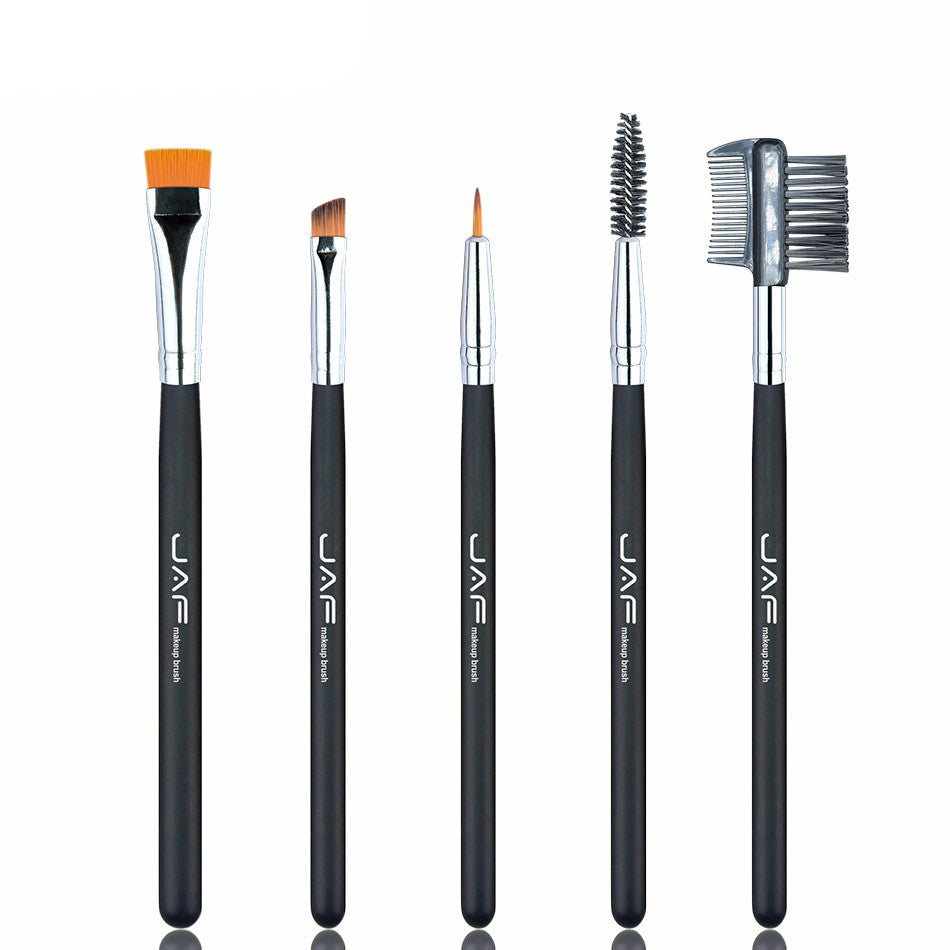 Retail JAF 100% Vegan Eye Makeup Cosmetic Brush Set for Eyeliner Eyebrow Eyelash Syenthetic Hair Brush Comb JE0501S-B Vegan
