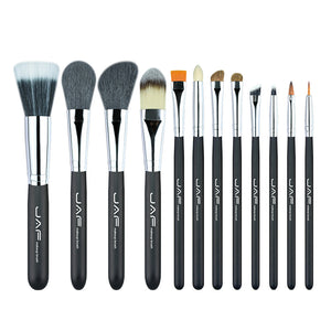 JAF Brand 12pcs Makeup Brushes Kit Convenient Natural Hair Synthetic professional Cosmetics brush Set J1202M-B
