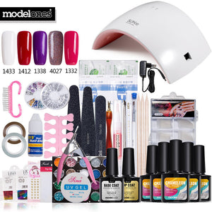 Modelones SUN9c 24W Nail Lamp Art Tools Professional User Nail Gel Polish Manicure Kits
