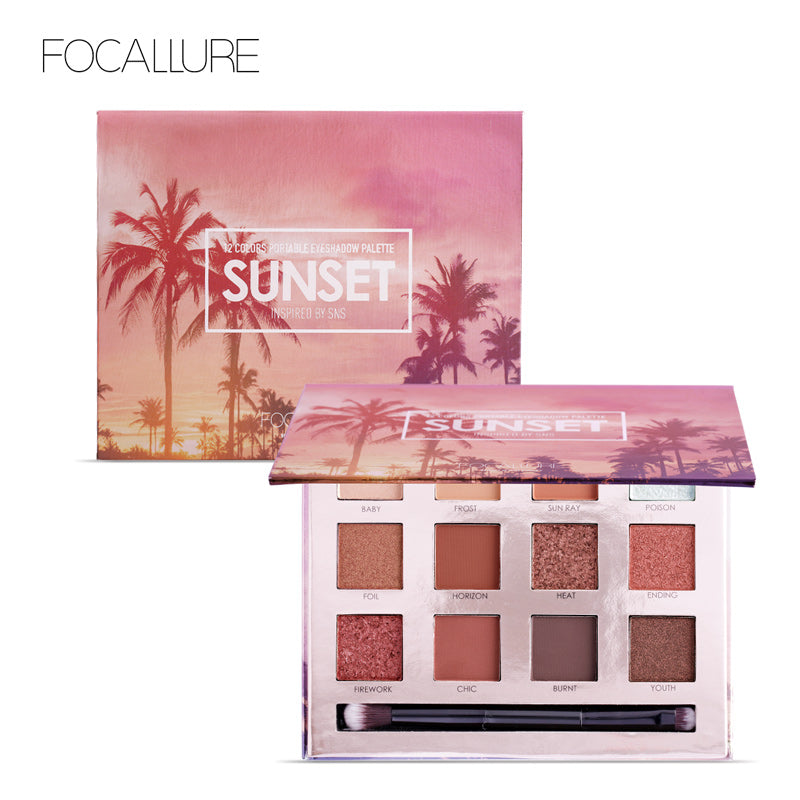 FOCALLURE Eyeshadow Palette 12 Colors Makeup Eye Shadow Matte Shimmer Shining  Nude Make up  Glitter Pigment