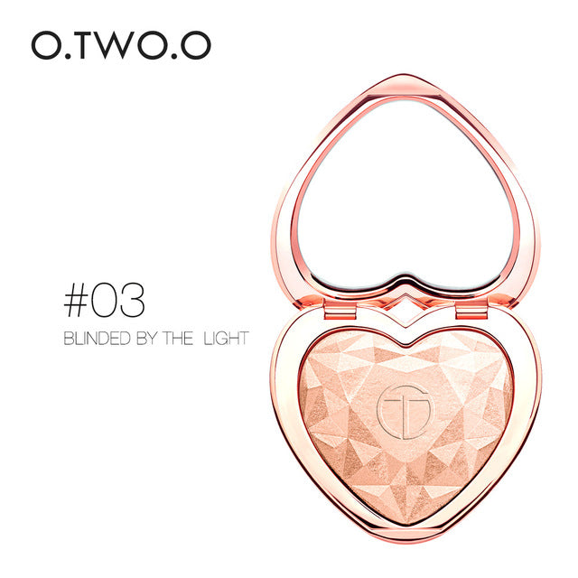 O.TWO.O Shimmer Highlighter Powder Palette Face Contouring Makeup Highlight Face Bronzer Highlighter Brighten Skin 4 Colors