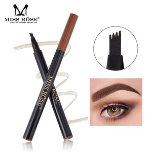 MISS ROSE Micro-engraved Eyebrow Pencil Natural Waterproof Liquid Eyebrows Pen Professional Makeup Eye brow Tint Eyes Cosmetics