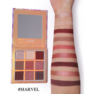 Marvel 9 Color Nude Pigment Eye Shadow Palette
