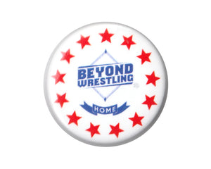 Beyond Wrestling Red, White & Blue Button