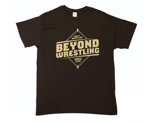 Beyond Wrestling Logo Brown T-Shirt