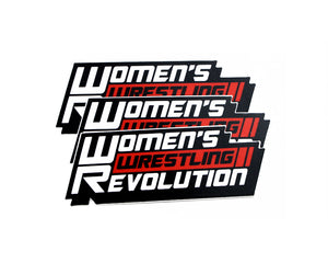 Women's Wrestling Revolution Die-Cut Stickers 3-Pack