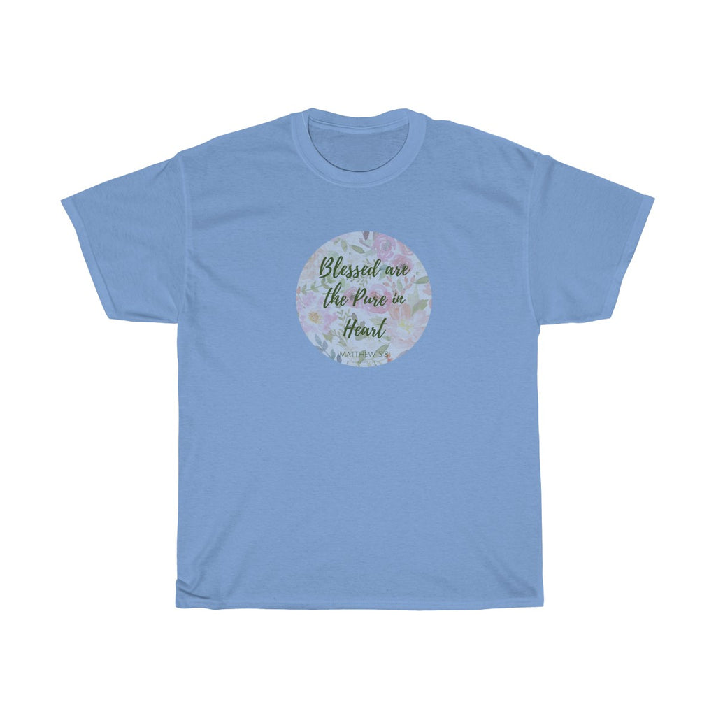 Matthew 5:8 Heavy Cotton Tee