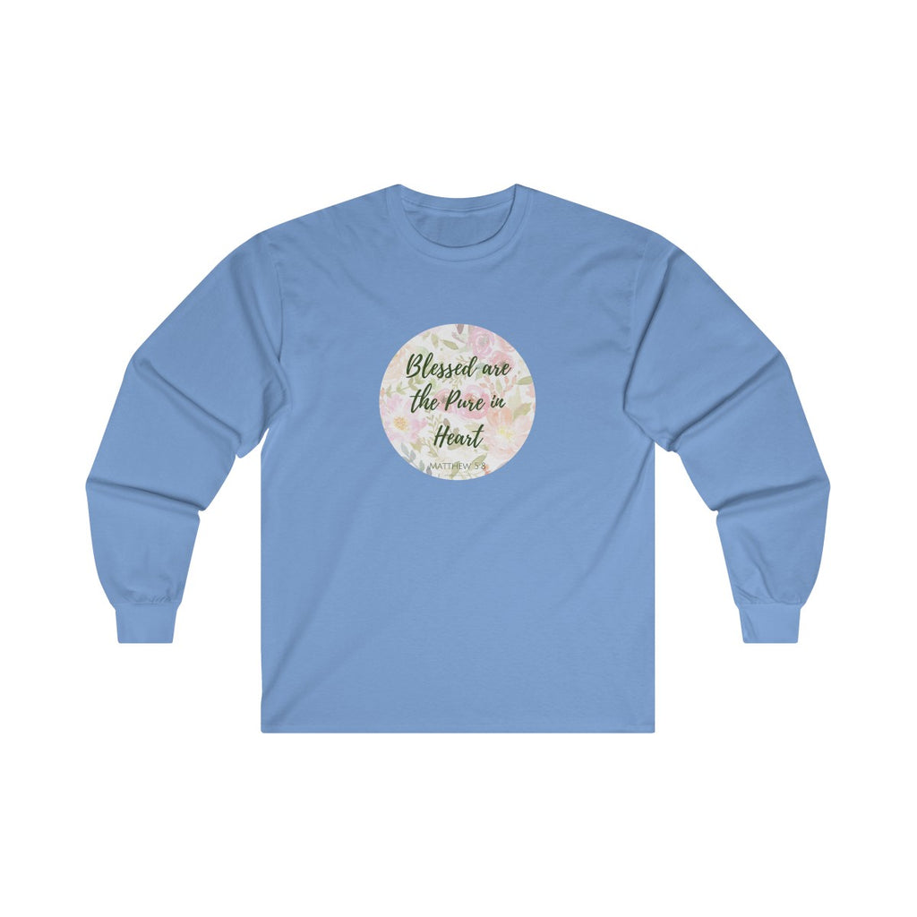 Matthew 5:8 Ultra Cotton Long Sleeve Tee