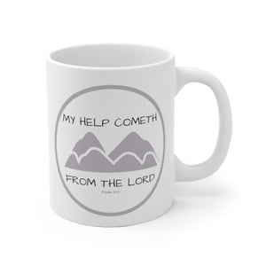 White Ceramic Mug: Psalm 121:2