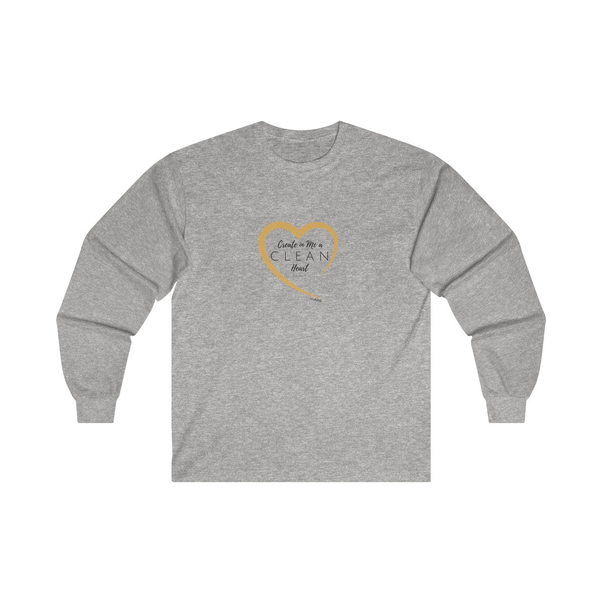 Psalm 51:10 Ultra Cotton Long Sleeve Tee