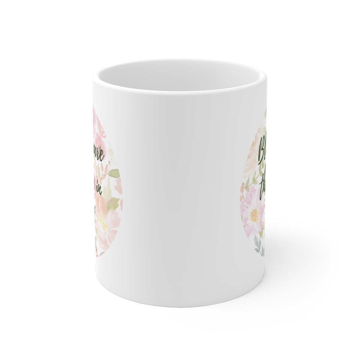 White Ceramic Mug: Matthew 5:8
