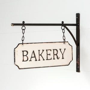 Metal Hanging Bakery Sign with Hanging Display Bar