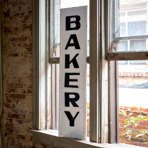 Embossed Metal Bakery Sign