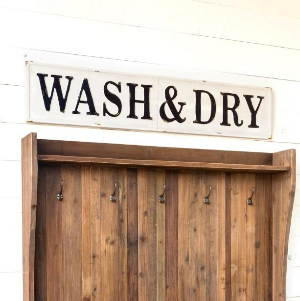Embossed Metal Wash & Dry Sign