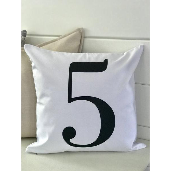Personalized Number Pillow