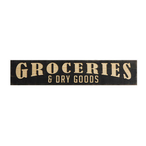 Wooden Groceries & Dry Goods Sign