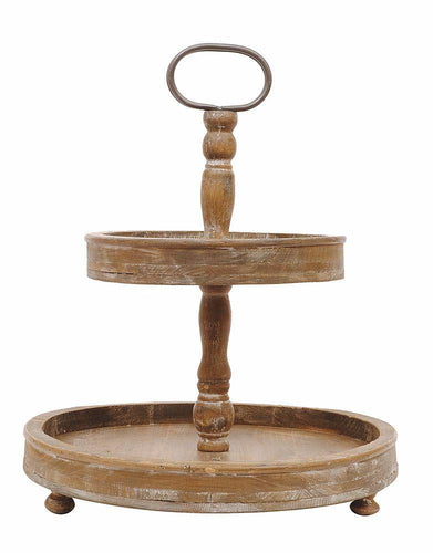 Wooden 2-Tier Tray