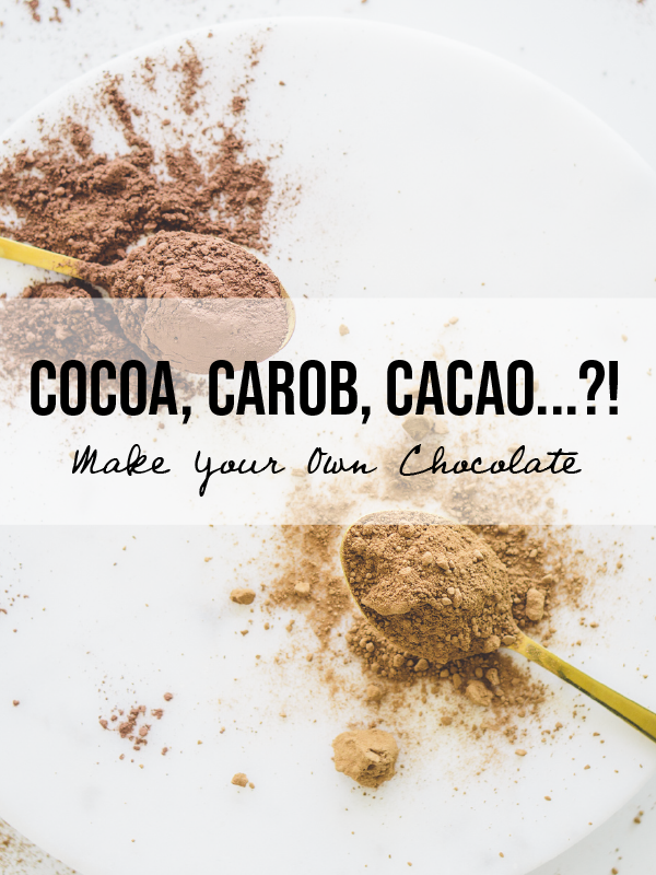 Cacao, Cocoa, or Cacao? PLUS Homemade Vegan & Paleo Chocolate