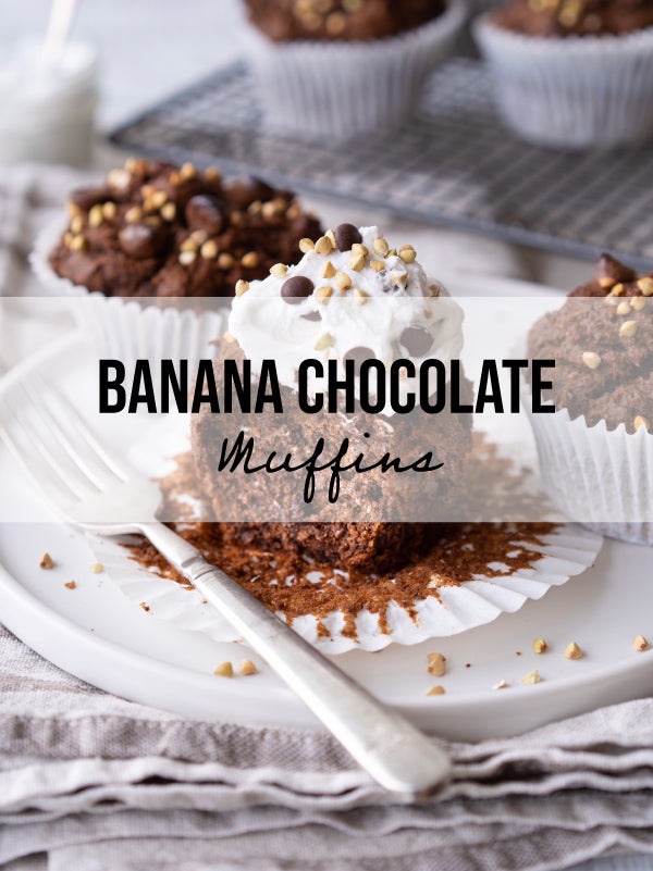 Vegan and Gluten-Free Banana Chocolate Muffins