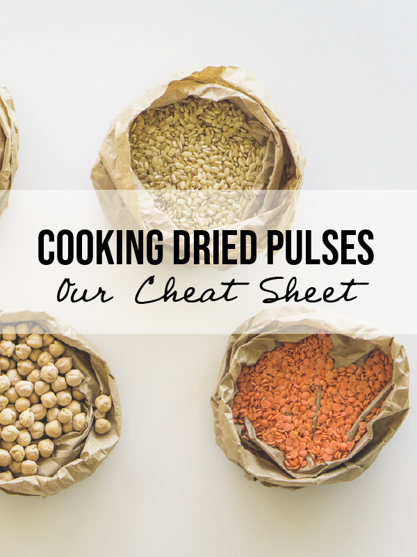 How To Cook Dried Pulses - Our Cheat Sheet!