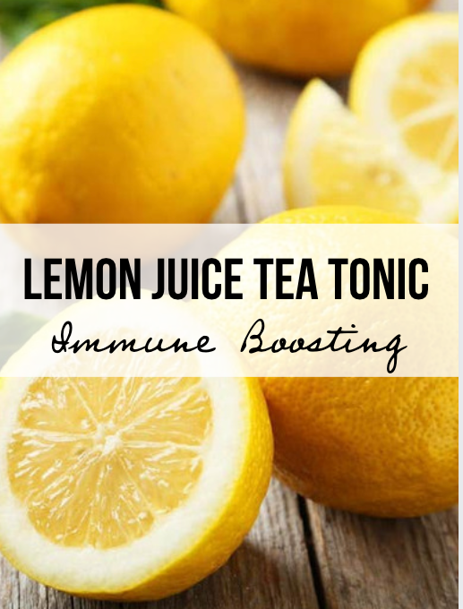 Immune Boosting Lemon Juice Tea Tonic