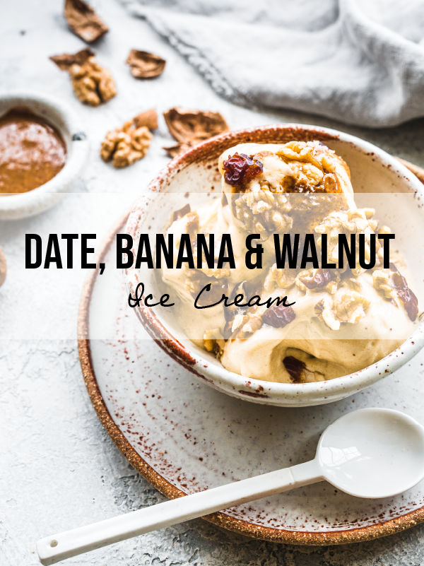 Salted Date, Walnut and Banana Ice Cream