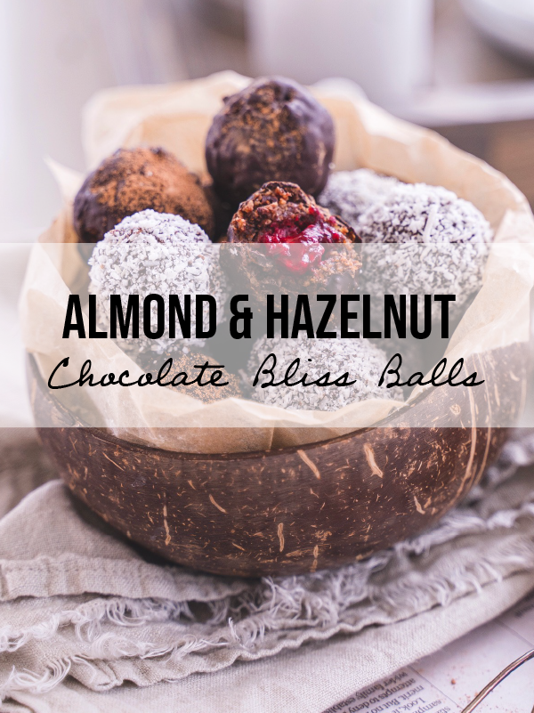 Almond and Hazelnut Chocolate Bliss Balls