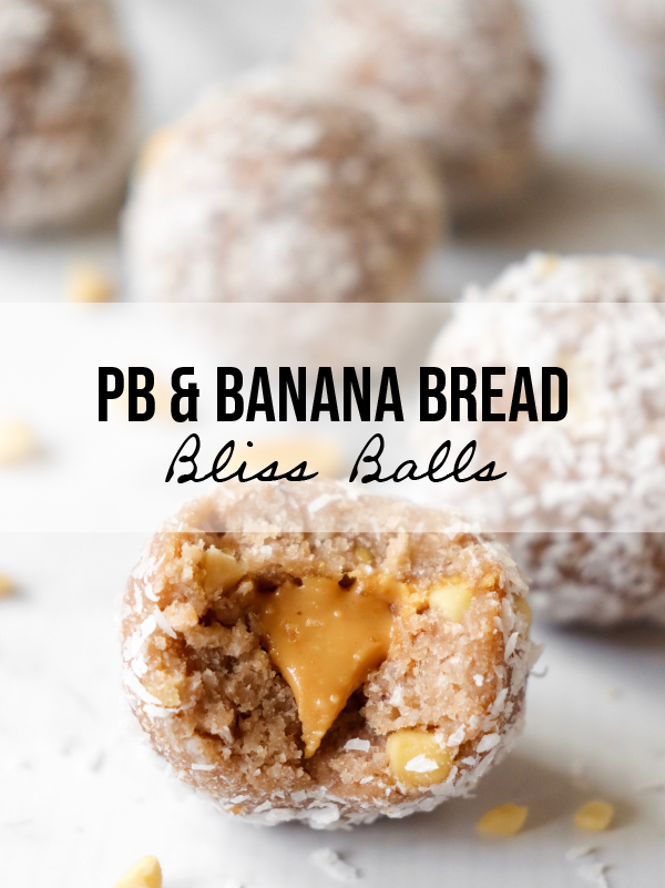 Peanut Butter Banana Bread Bliss Balls