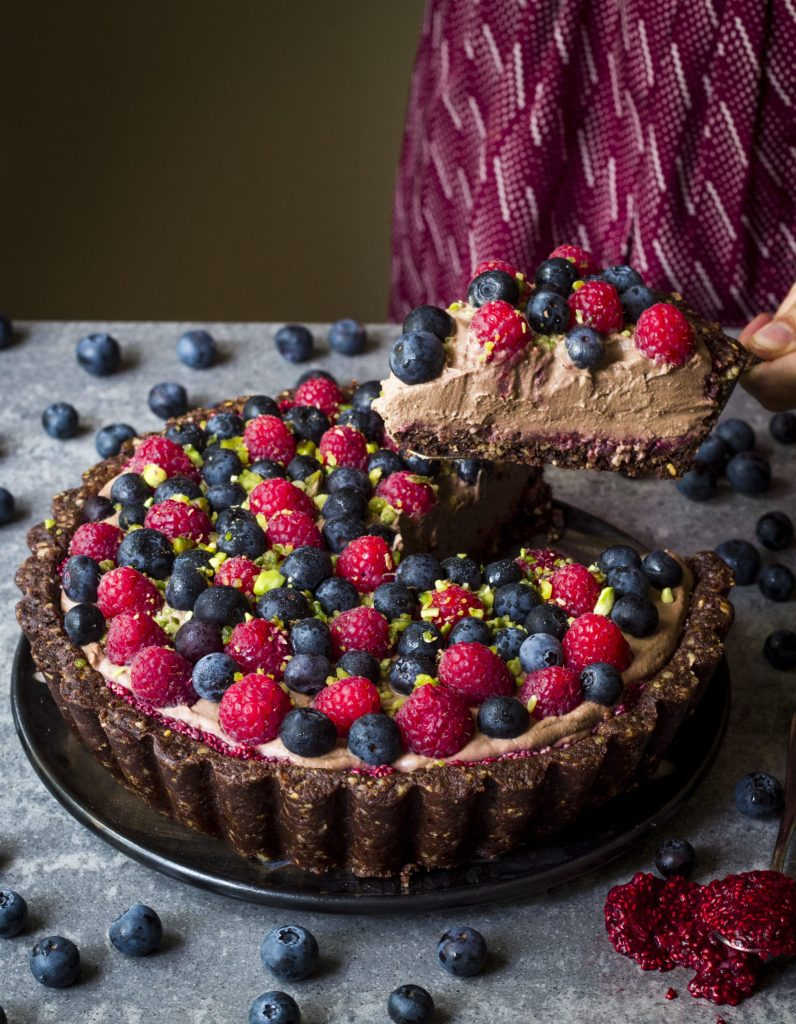 BERRY AND CHOCOLATE BROWNIE TART