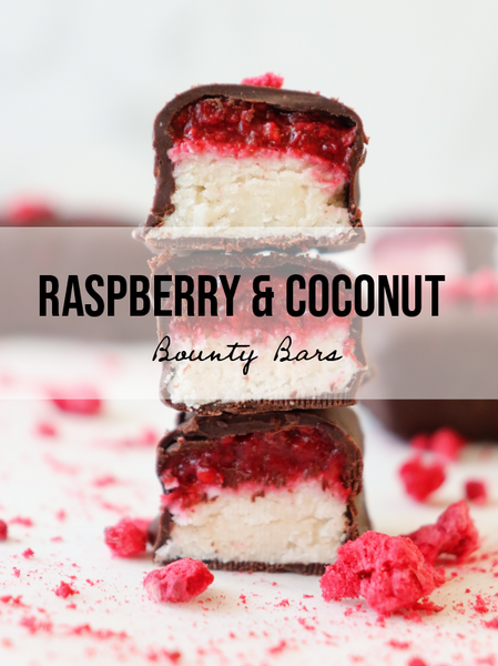 Raspberry & Coconut Bounty Bars