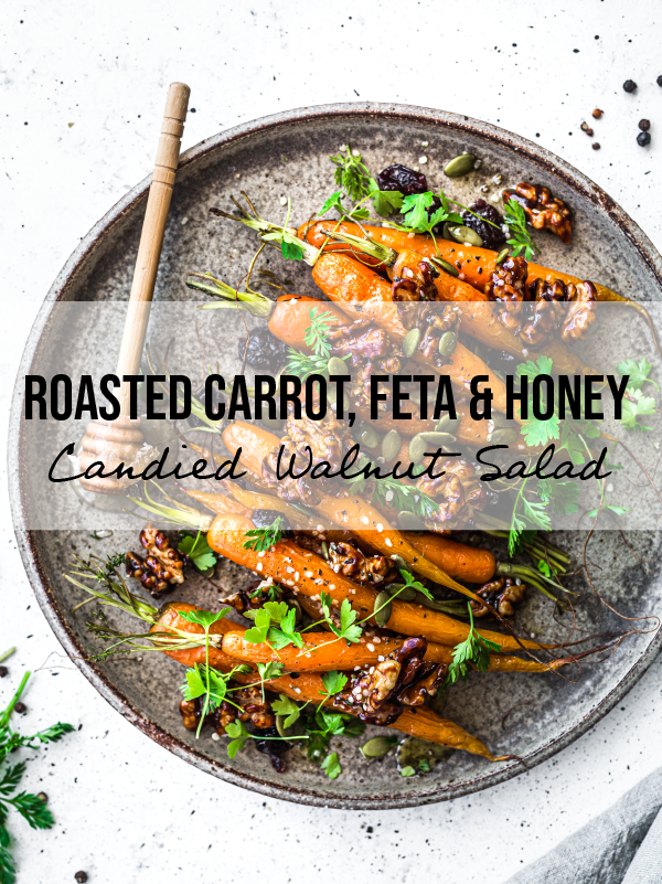 Roasted Carrot, Honey And Candied Walnut Salad