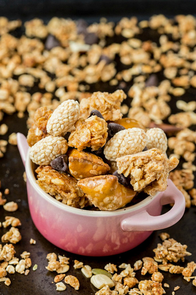 Chunky Peanut Butter Granola Clusters