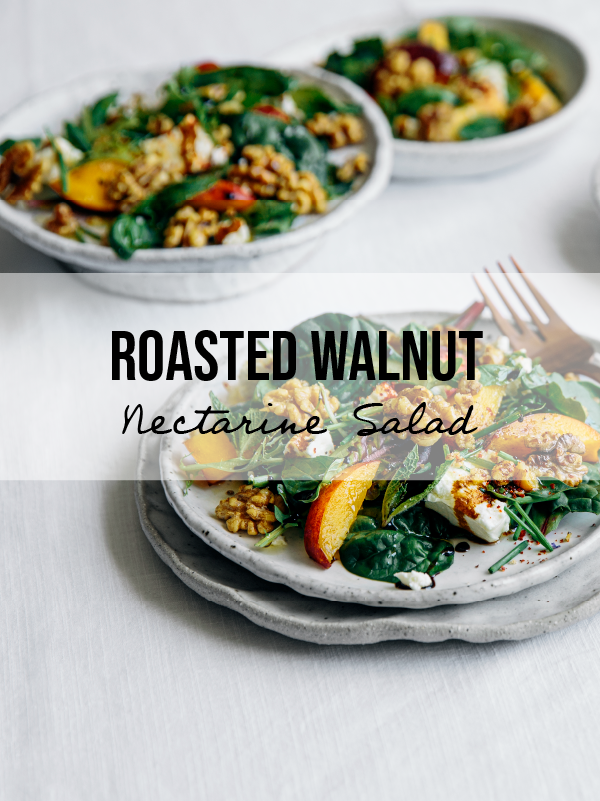 Nectarine & Roasted Walnut Salad