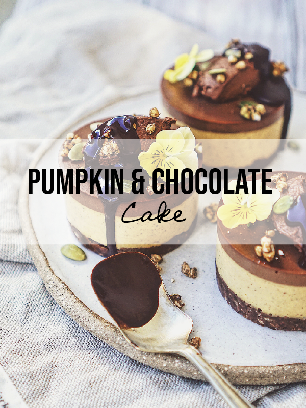 ALMOST RAW Halloween Pumpkin & Chocolate Cake