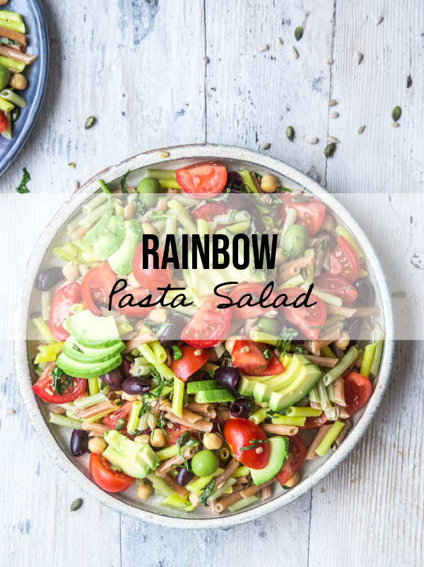 15 Minute Rainbow Pasta Salad
