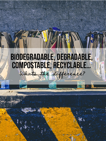 Biodegradable, Degradable, Compostable, Recyclable… What's The Difference?