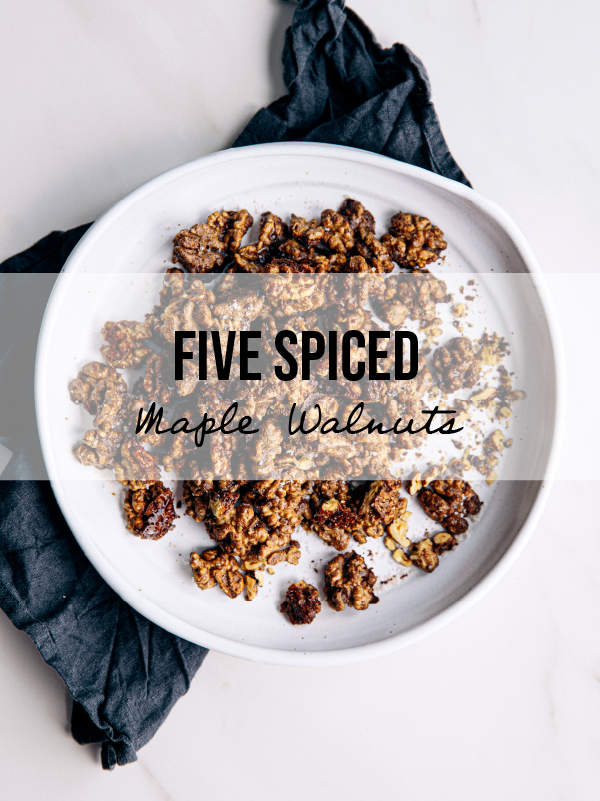Five-Spice Maple Baked Walnuts