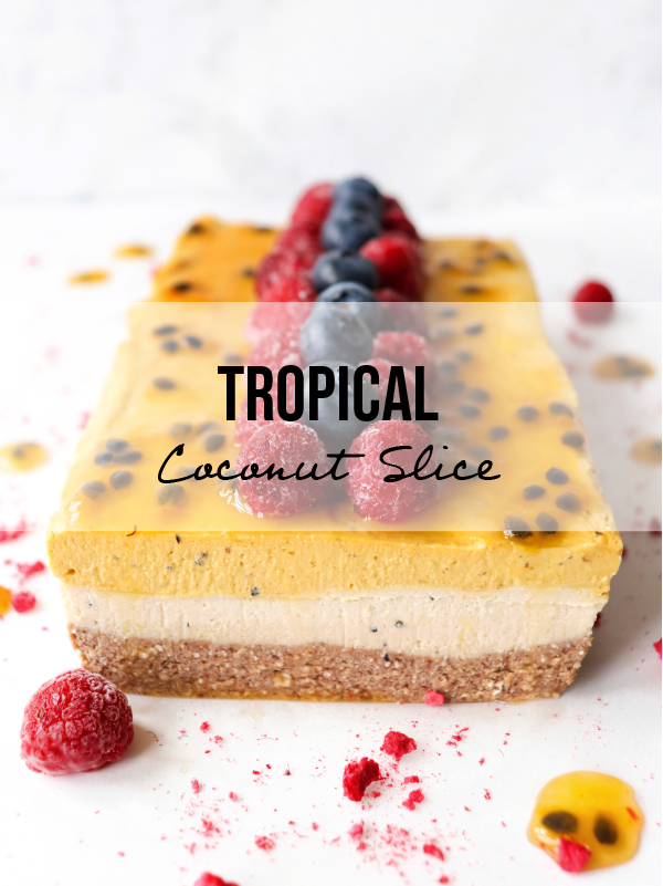 Tropical Coconut Slice