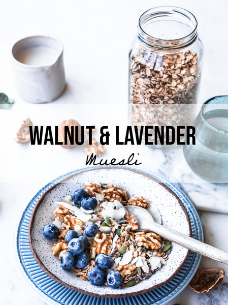 Homemade Walnut and Lavender Muesli