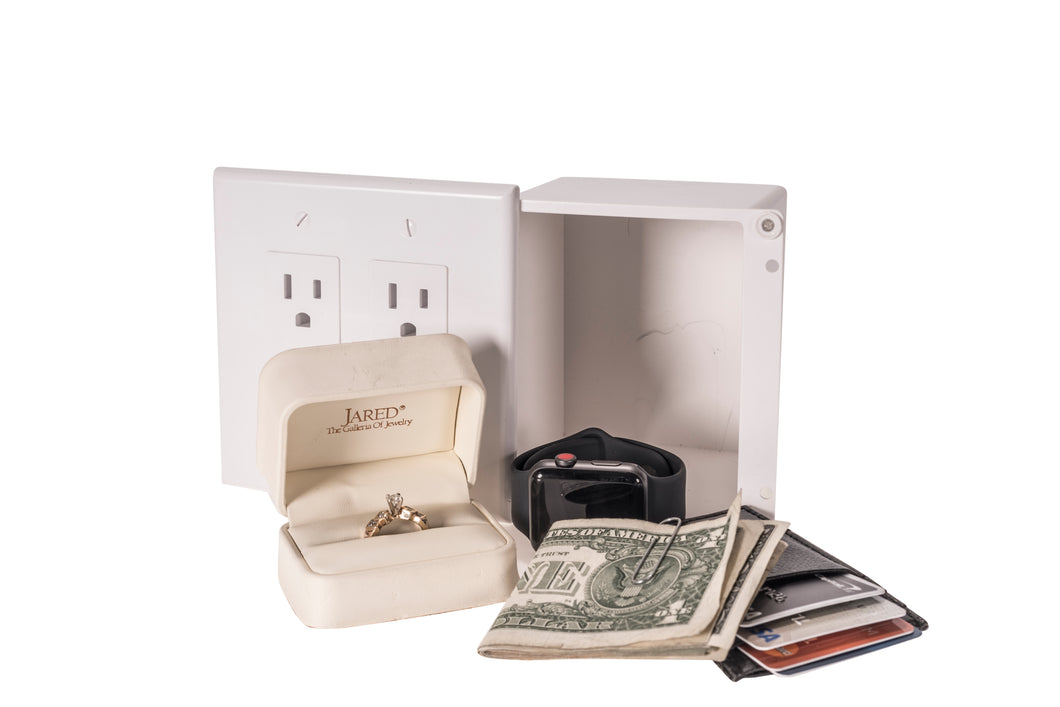 The Plated Safe™ - A Wall Outlet Hide Away