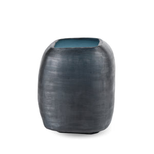 Yava Medium Vase, Dark Indigo