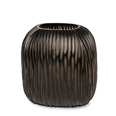 Somba Medium Vase - Smoke Grey/ Black