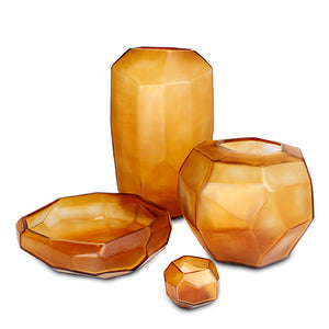 Cubistic Tealight - Clear Gold