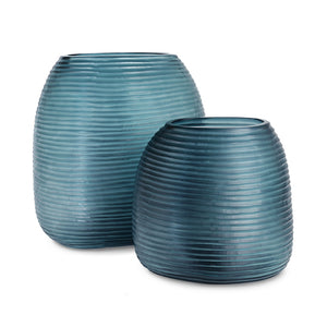 Papua Medium Vase - Ocean Blue / Indigo