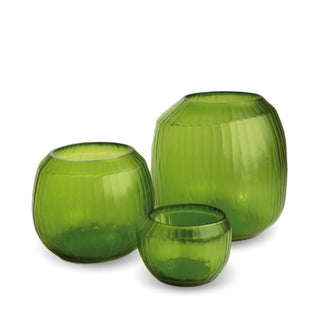 Malia Large Vase - Lemon Green